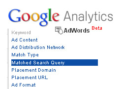 Matched Search Query Reporting in Google Analytics
