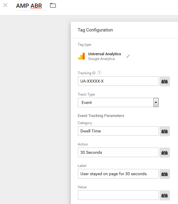 Add event tracking for Adjusted Bounce Rate.