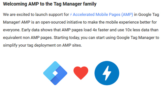 Google Tag Manager Now Supports AMP