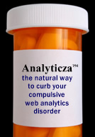 Analyticza pills help curb severe obsession with web analytics reporting.