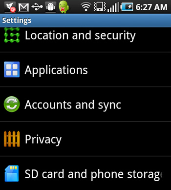 How To Access Sync Options on Android Apps