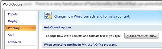 How to use AutoCorrect in Microsoft Word 2010 and 2007.