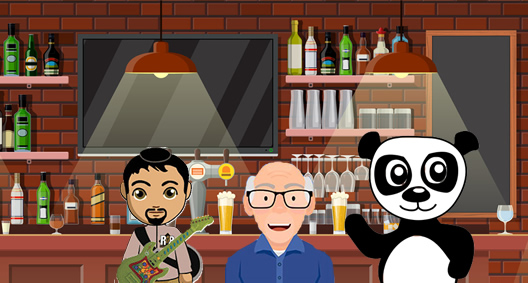 Barry, John, and Panda walk into a bar.