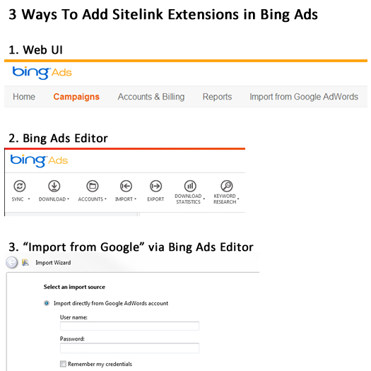 How To Create Sitelink Extensions in Bing Ads