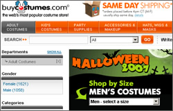 Buying Halloween Costumes from BuyCostumes.com