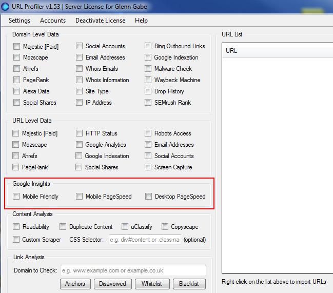 Checking Mobile-Friendliness In Bulk Via URL Profiler