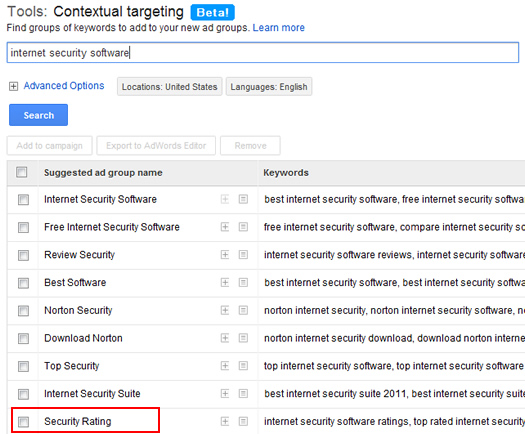 Expanding related searches with the Contextual Targeting Tool