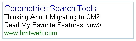 Coremetrics Search Marketing Tools - List of Top Features