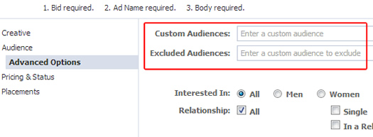 Combining Custom Audiences to Enhance Targeting