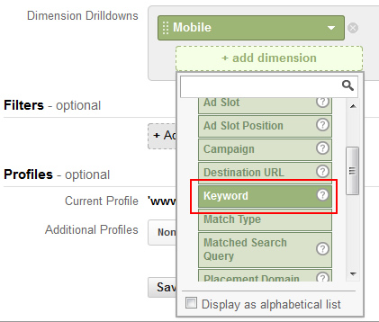 Adding More Dimensions to a Custom Report in Google Analytics