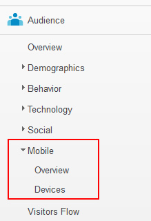 Accessing the Mobile Overview Report in Google Analytics