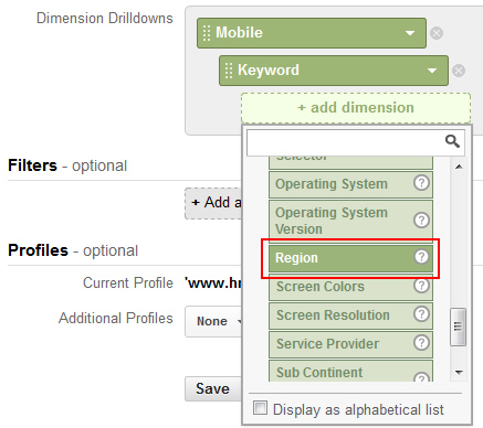 Adding Location Dimensions to a Custom Report in Google Analytics