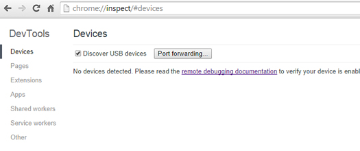 Enable USB Discovery in Chrome Desktop