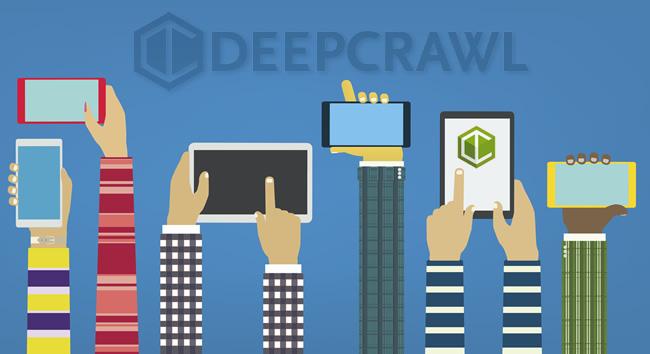 Comparing separate mobile urls to desktop using DeepCrawl's test site feature.