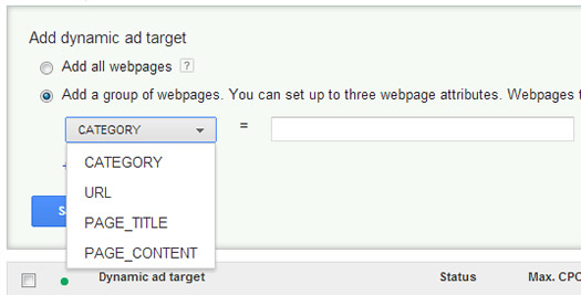 Dynamic Ad Targets in Google AdWords