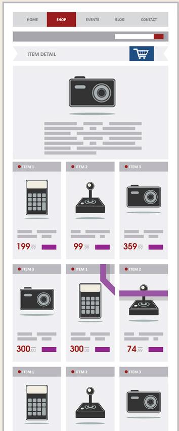 Providing concise e-commerce category descriptions that are visible be default.
