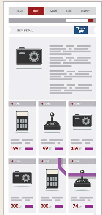 Shorter e-commerce category descriptions visible on-load.