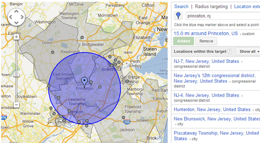 Radius Targeting in Google AdWords