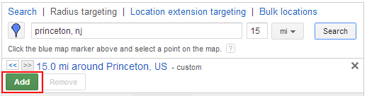 Adding Radius Targeting in Enhanced Campaigns