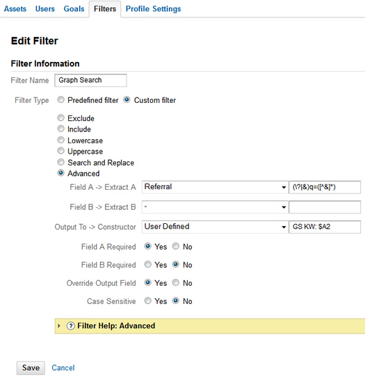 How to add an advanced filter in Google Analytics