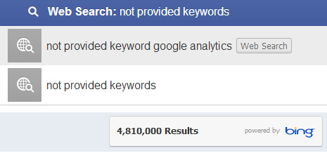Facebook Graph Search Results and Not Provided