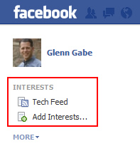 Interest Lists in Facebook