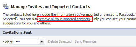 How to Remove Imported Contacts From Facebook