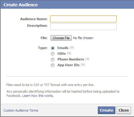 Using Custom Audiences in Facebook