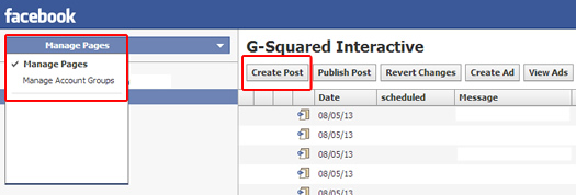 Creating an unpublished post in Facebook using Power Editor.