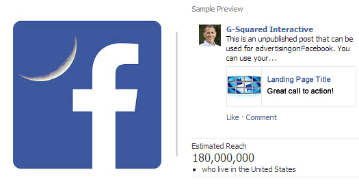 How to use unpublished posts as Facebook Ads