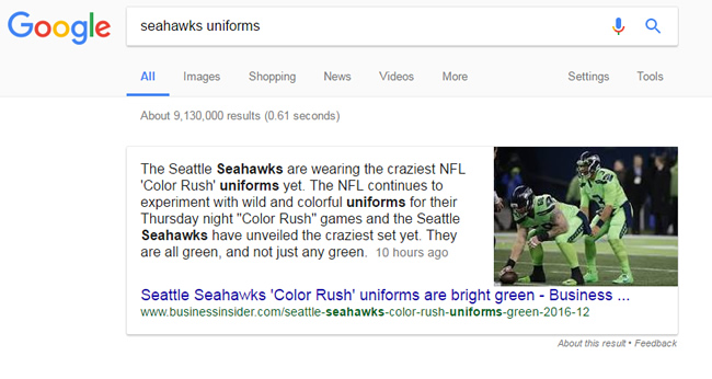 Breaking News Featured Snippets Seattle Seahawks Uniforms