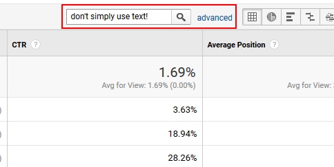 Advanced filtering in Google Analytics.