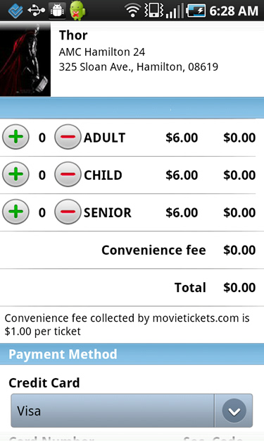 Buying Movie Tickets in Flixster