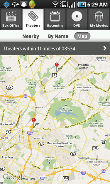 Mapping Your Theatre in Flixster