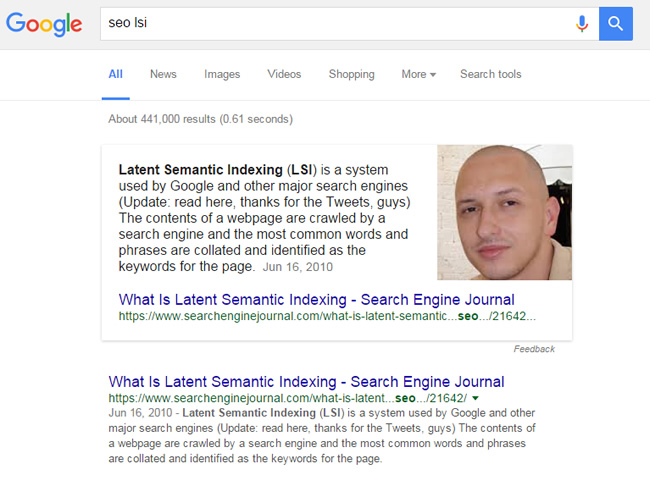 Featured Snippet for SEO LSI