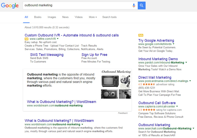 Featured Snippet for Outbound Marketing
