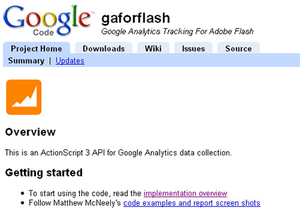 The Google Code Project for GAforFlash