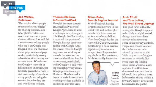 Glenn Gabe in Direct Marketing News Regarding Google+