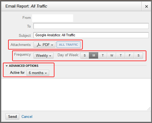 Scheduling Reports via Email in Google Analytics v5