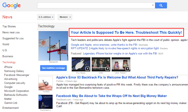 How To Use The Google News Troubleshooting Tool
