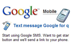 Google SMS, Texting Google for Quick Answers