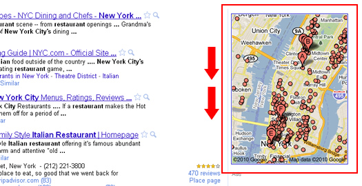 Google Testing Stationary and Scrolling Maps for Local Search