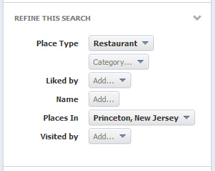 Faceted Navigation in Facebook Graph Search