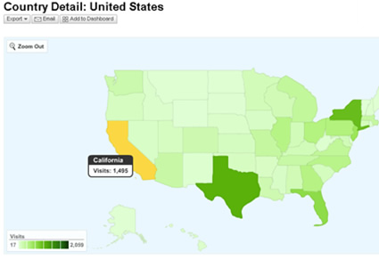 Google Analytics Map Overlay Feature