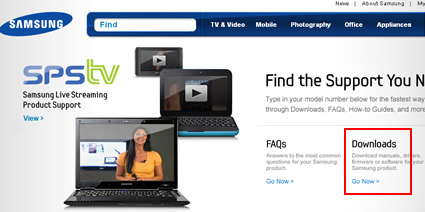 The Samsung HDTV Support Website.