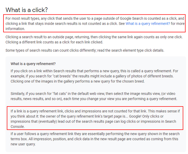 What is a click in Google Search Console (GSC)?