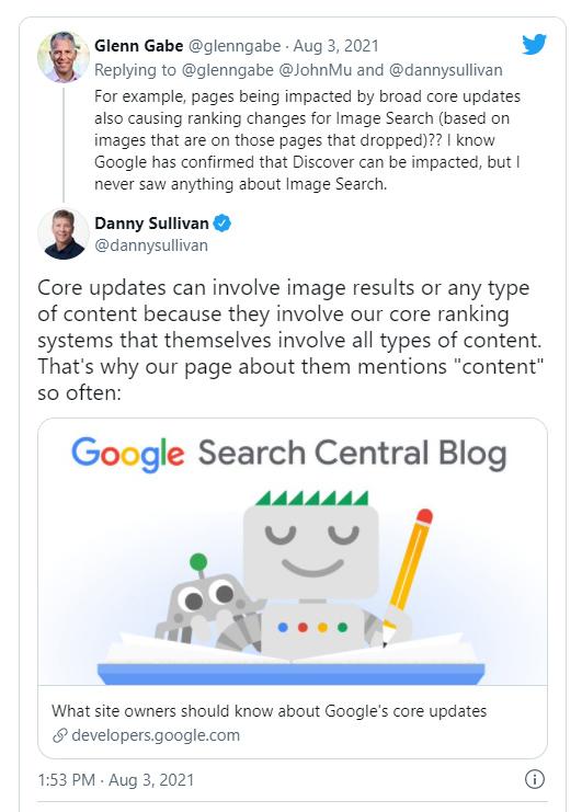 danny sulivan tweet response