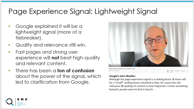 Here is a slide from my SMX Advanced presentation about the power of the signal (along with a tweet of mine based on a video from Google's Martin Splitt).