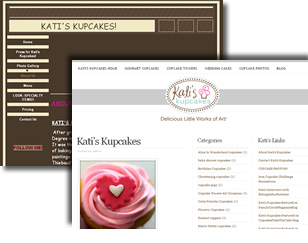 Kati's Kupcakes New CMS and Website Design