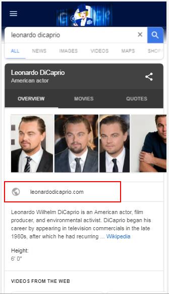 Leonardo Dicarpio on mobile.